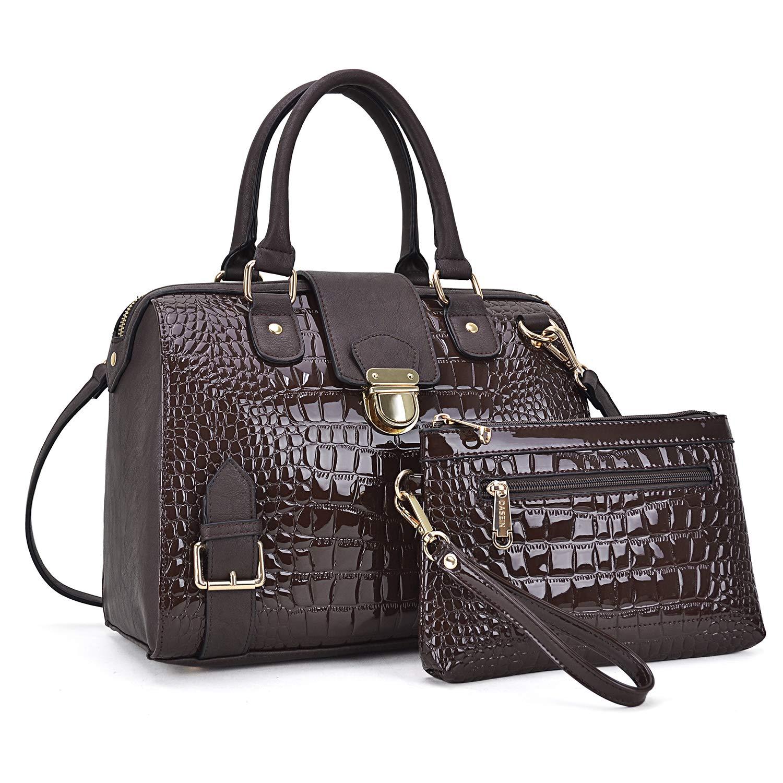 Dasein Women Barrel Handbags Purses Fashion Satchel Bags Top Handle Shoulder Bags Vegan Leather Tote Bags by Dasein (Image #1)