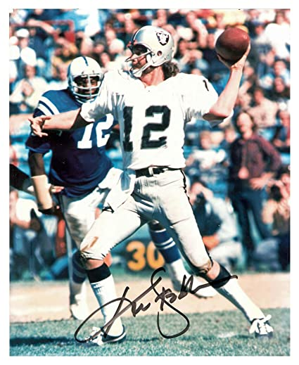 9f0df773f Ken Stabler Autographed Signed Oakland Raiders 8x10 Photograph Picture