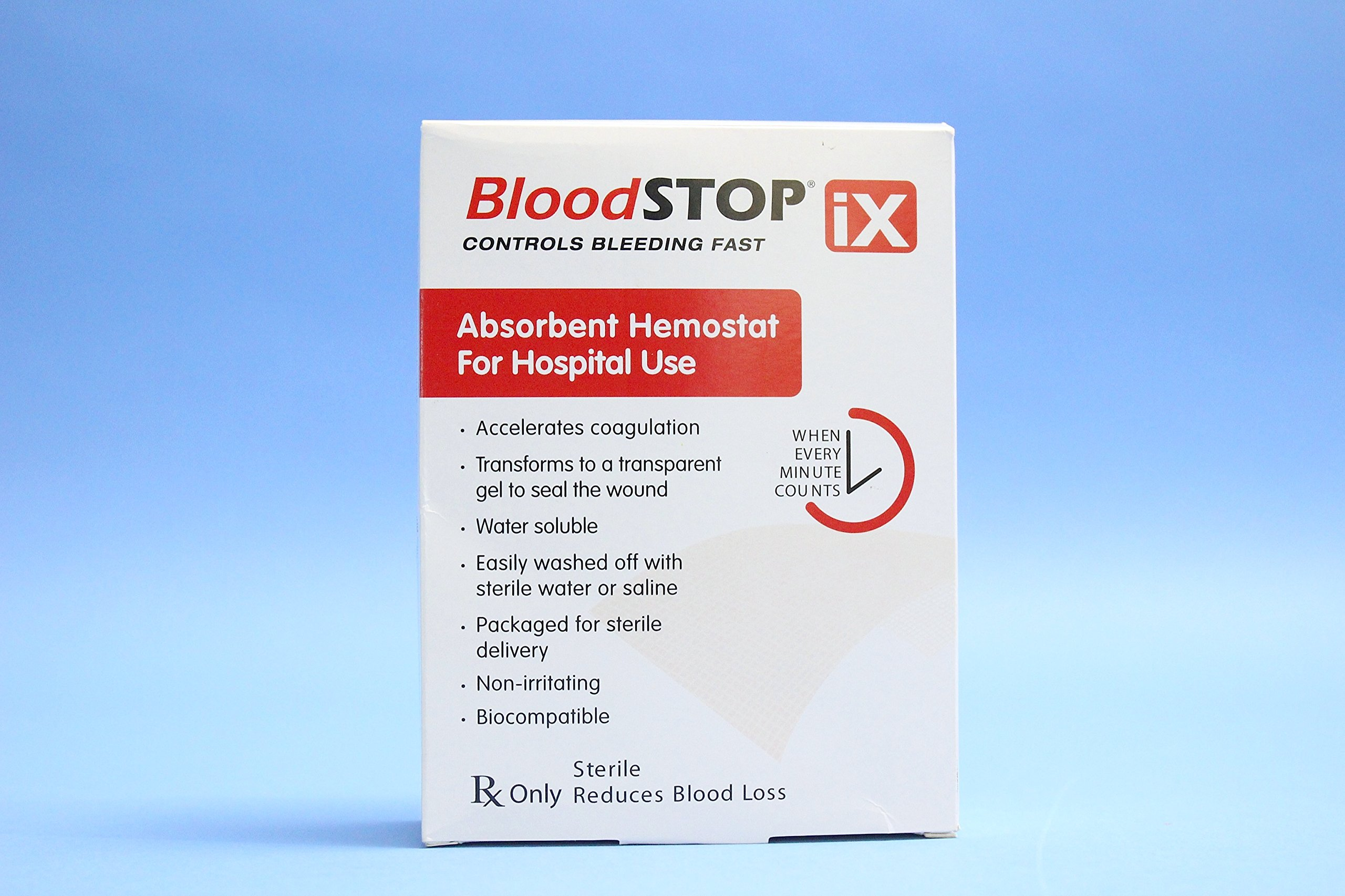 Blood Stop IX Absorbent Hemostat 2''x14'' (Box of 12) by LifeScience PLus