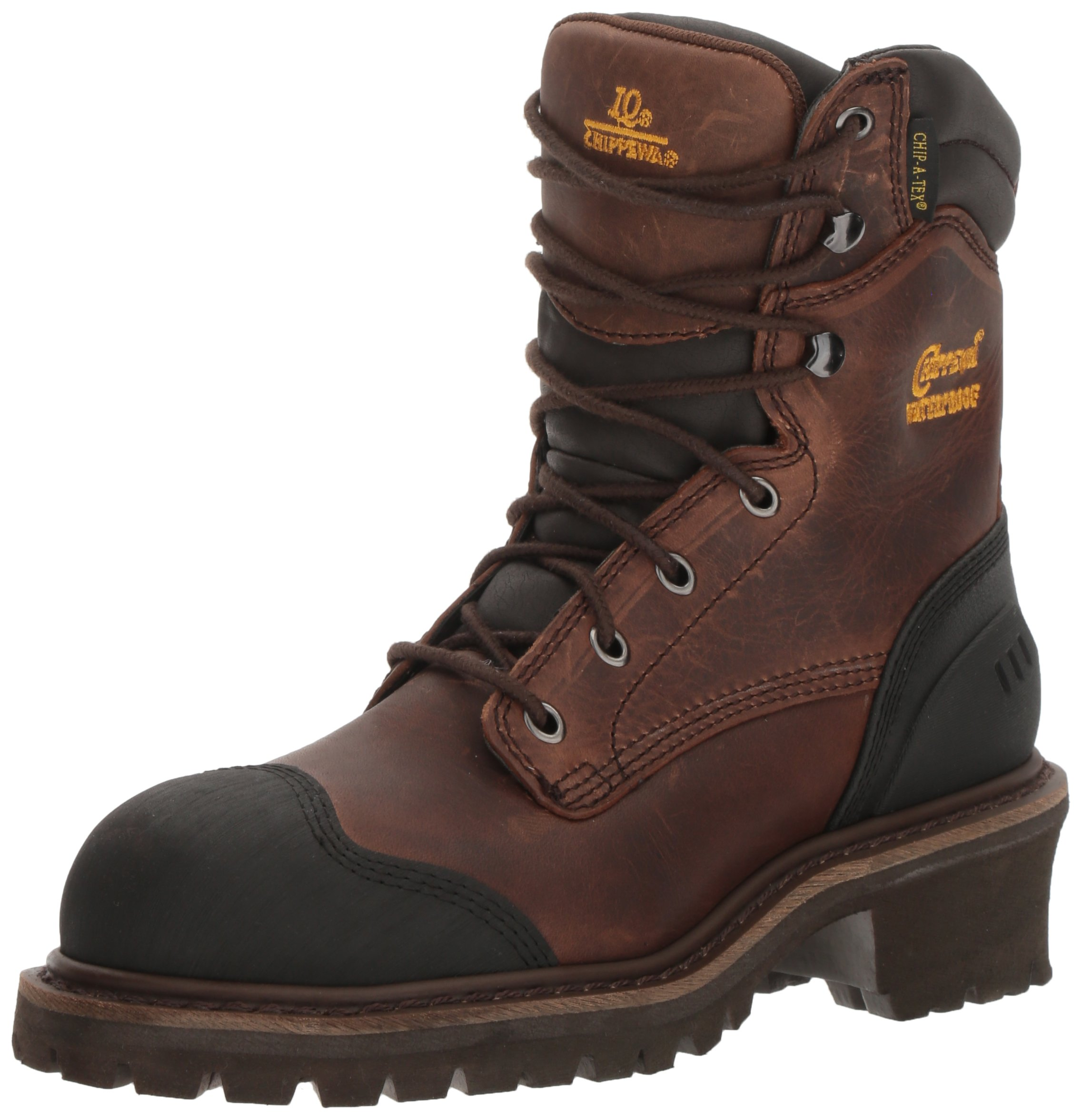 Chippewa Men's 8 Inch Chocolate Oiled Waterproof Comp Toe Logger Boot,Brown,8.5 M US