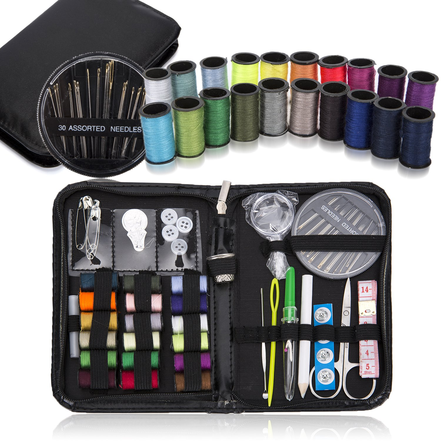 TARTINY Mini Travel Sewing Kit for Home, Travel & Emergencies – Filled with Quality Notions Scissor & Thread – Great Gift 4336936275