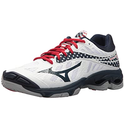Mizuno Wave Lightning Z4 Womens Stars & Stripes 8.5 Stars&Stripes: Mizuno: Sports & Outdoors