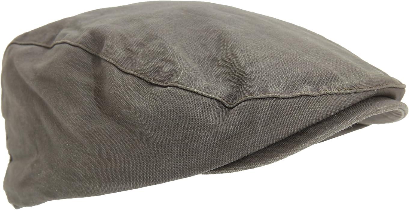 Universal Textiles Mens Waxed Flat Cap With Tartan Lining (Medium ... f21286a0611f