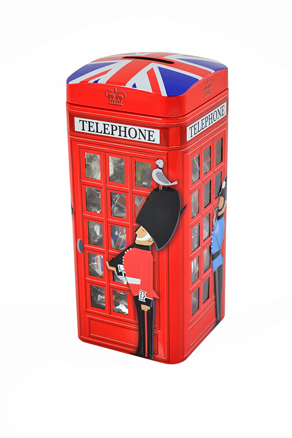 British Phone Box Confectionery & Money Box Tin 200g The Silver Crane Company Ltd