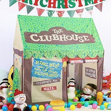 Kids Play Tent Pretend Club House Boy Indoor Outdooru0026Indoor Pop up Playtents  Chocolate  sc 1 st  Amazon.com & Amazon.com: Kids Play Tent Pretend Club House Boy Indoor ...