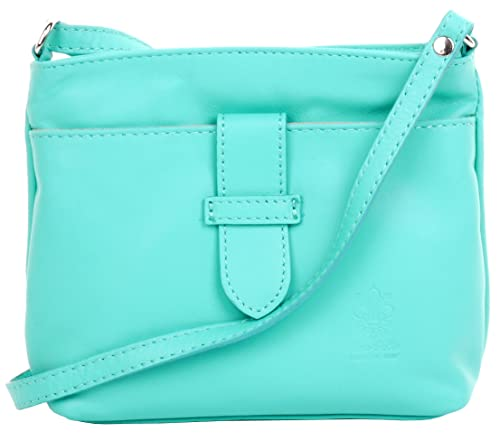 eacd7ae43a3ef Primo Sacchi® Ladies Italian Soft Leather Hand Made Small Strap Fronted  Triple Compartment Adjustable Strap Cross Body or Shoulder Bag Handbag.