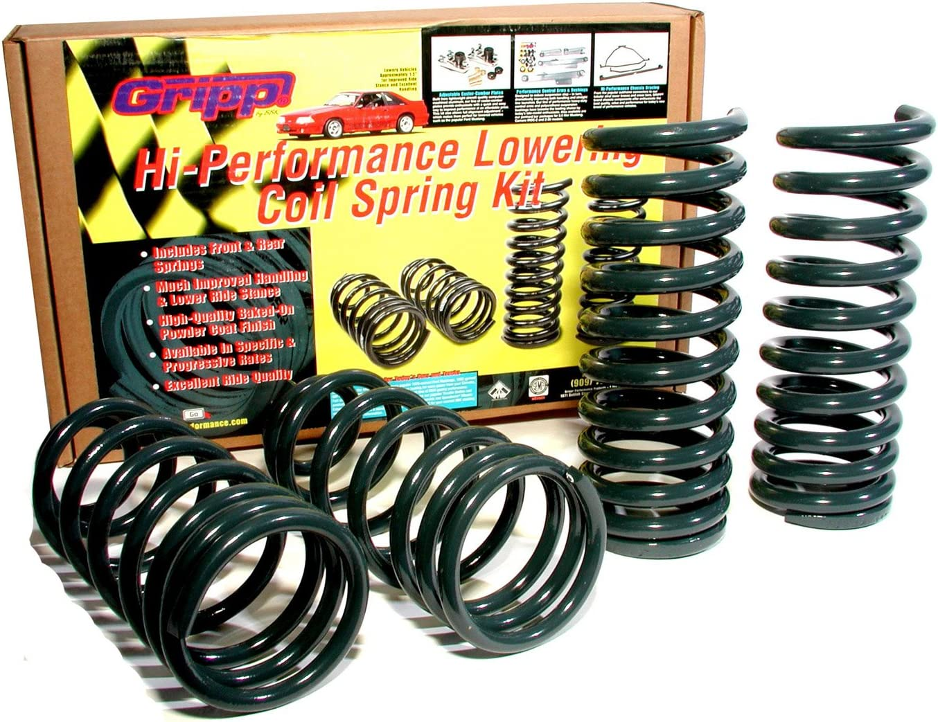 BBK Performance 2501 Lowering Coil Springs 1979-2004 Ford Mustang