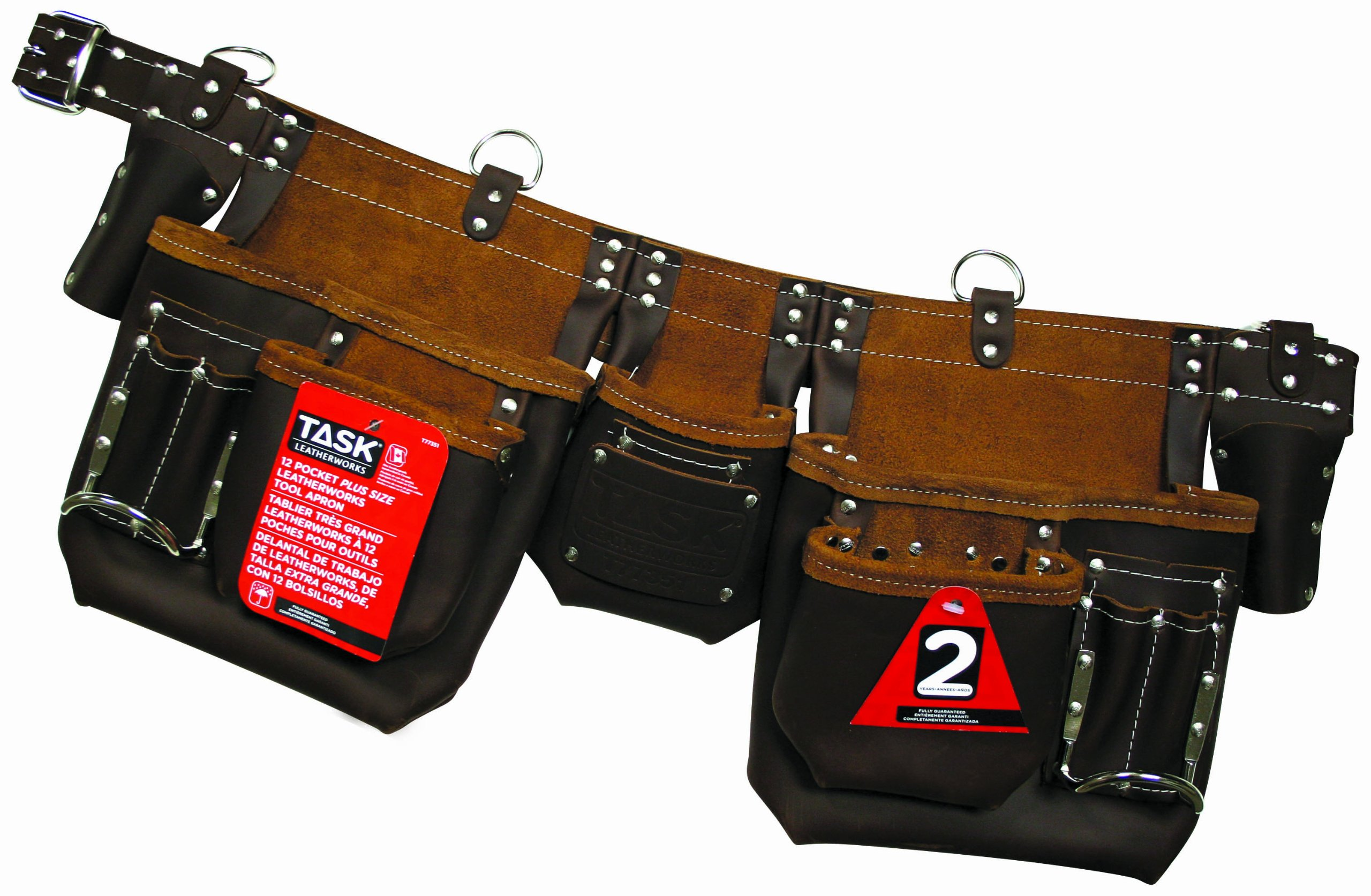 Task Tools T77351 Master Carpenter's Apron with 2 Oversized-Pocket, 12-Pocket