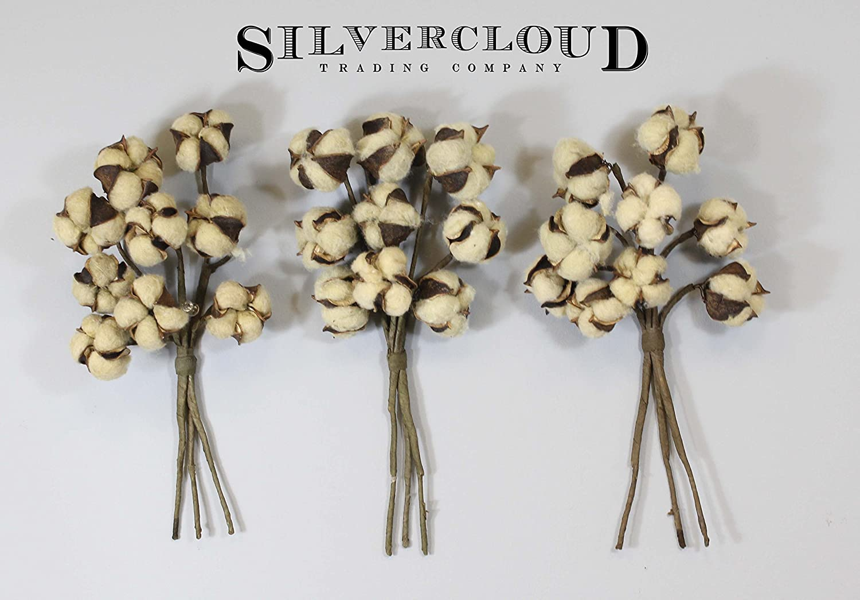 lovely [New] 3 Tea-Stained Cotton Stem Bundle - 3 Sets of Bundles, 3 ...