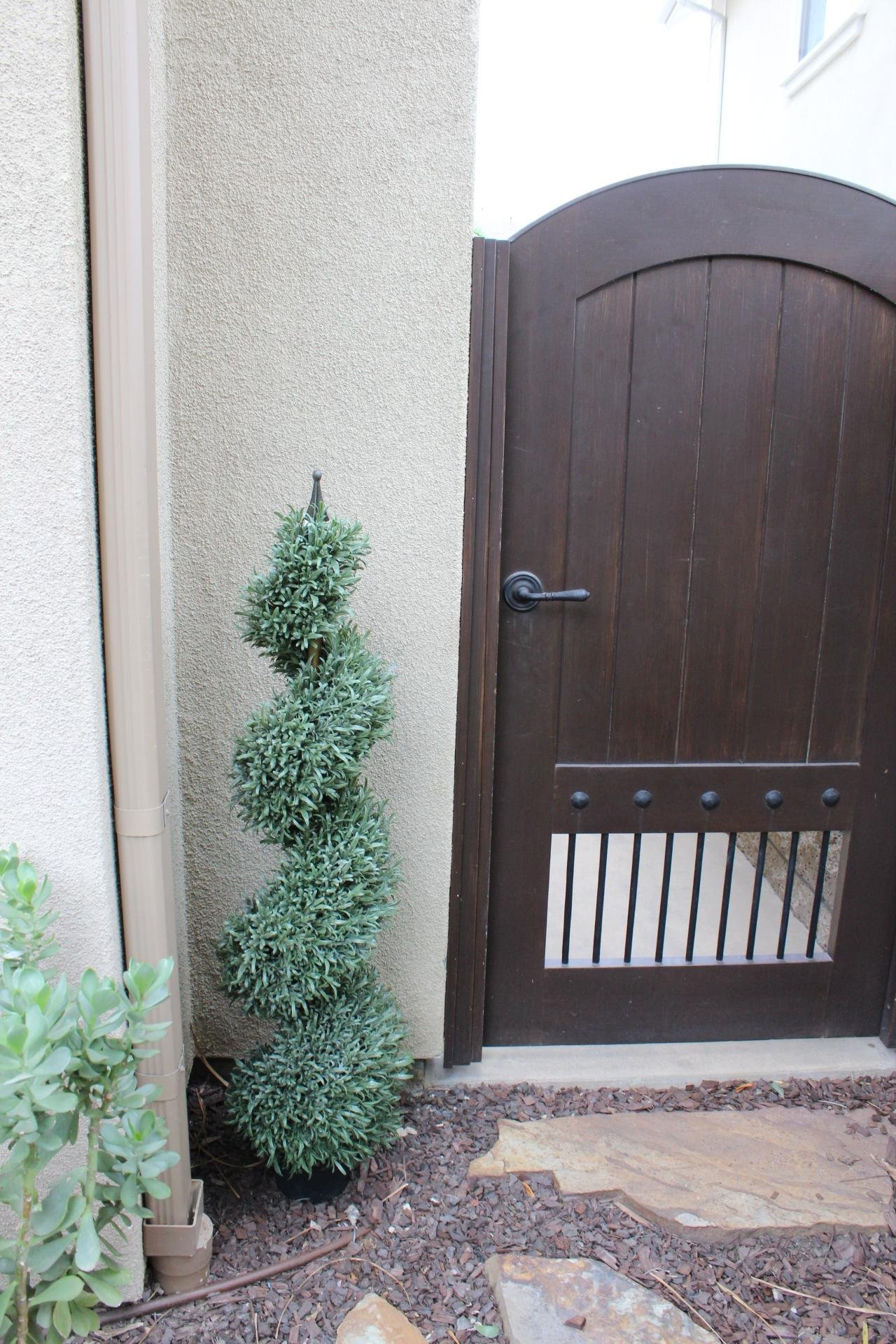 Rosemary Spiral Artificial Topiary Tree Pre Potted (4 Foot Twin Pack) by Silk Road Home