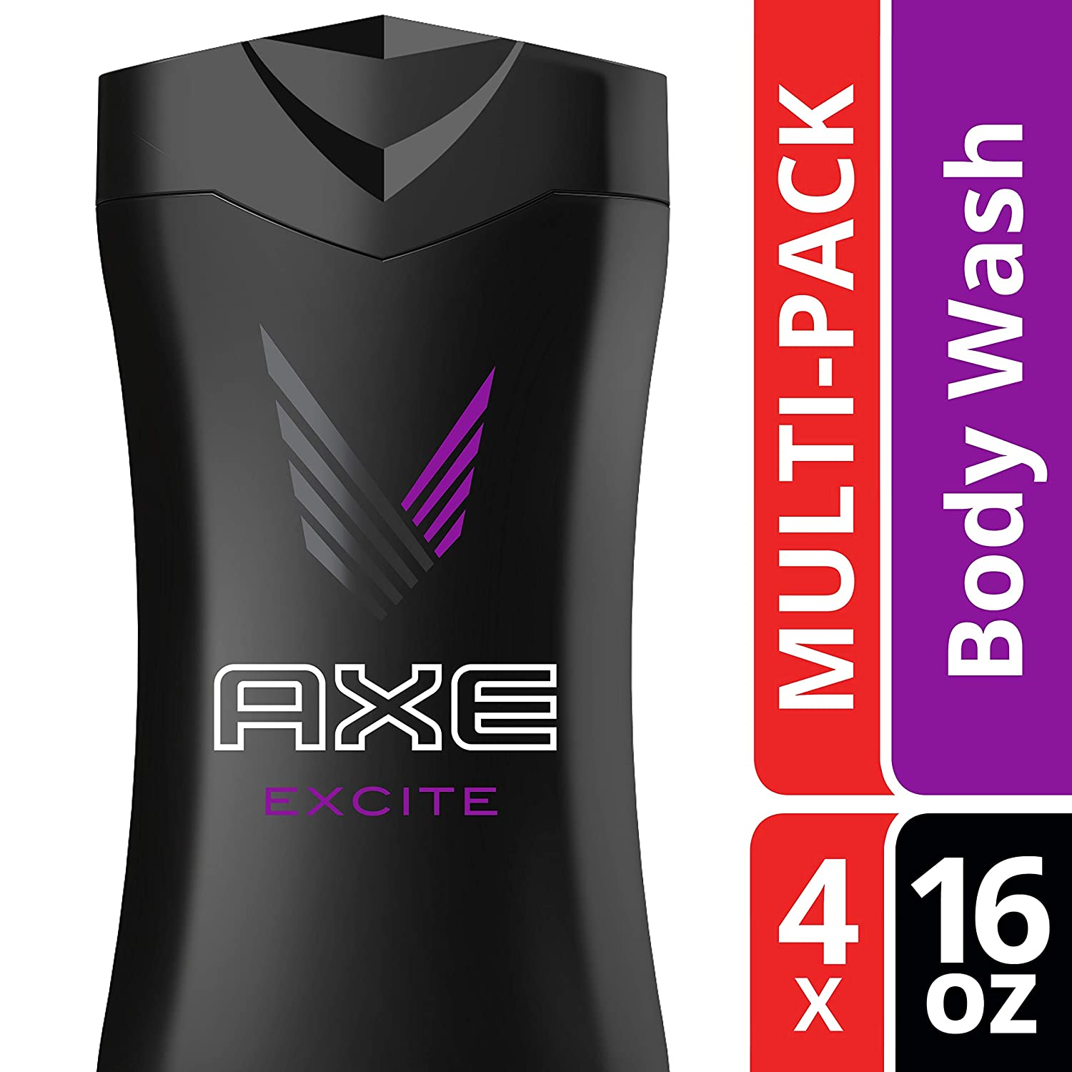 AXEExcite Body Wash for Men 16 Fl Oz (Pack of 4)