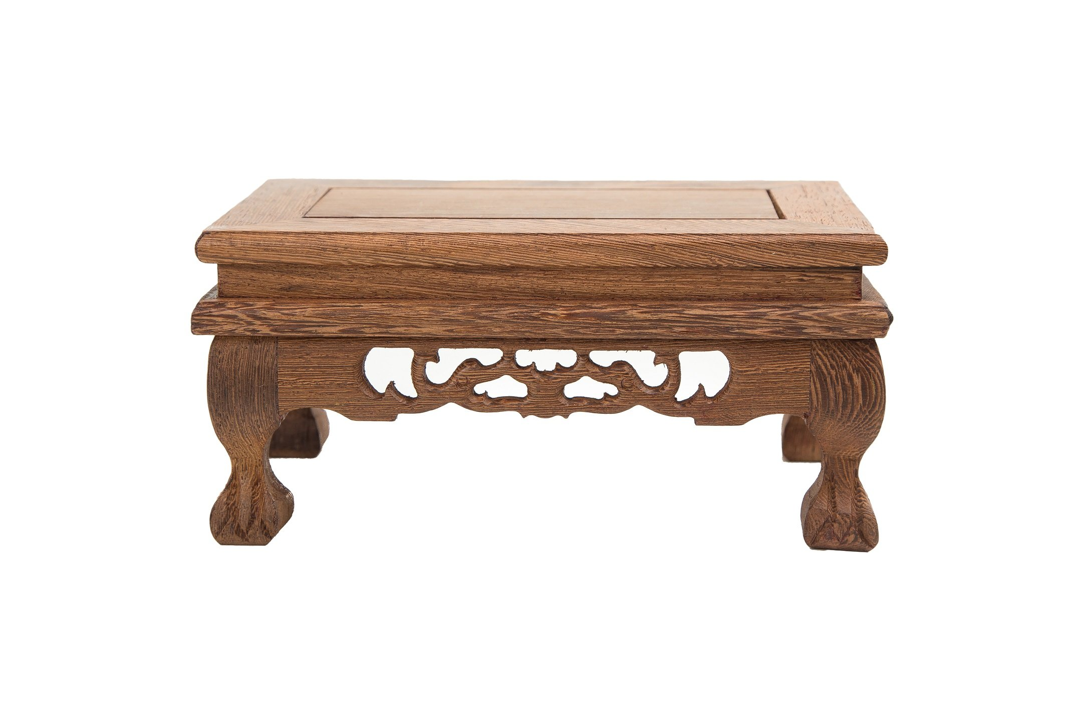 LuoLuo Chinese Display Stand Wooden Rectangle Shape Tiger Feet Carved Solid Rosewood JiChi Wood Display Base Holder For Arts Antique Etc, Home Decoration (S 18.5cm11cm9cm) by LuoLuo (Image #4)