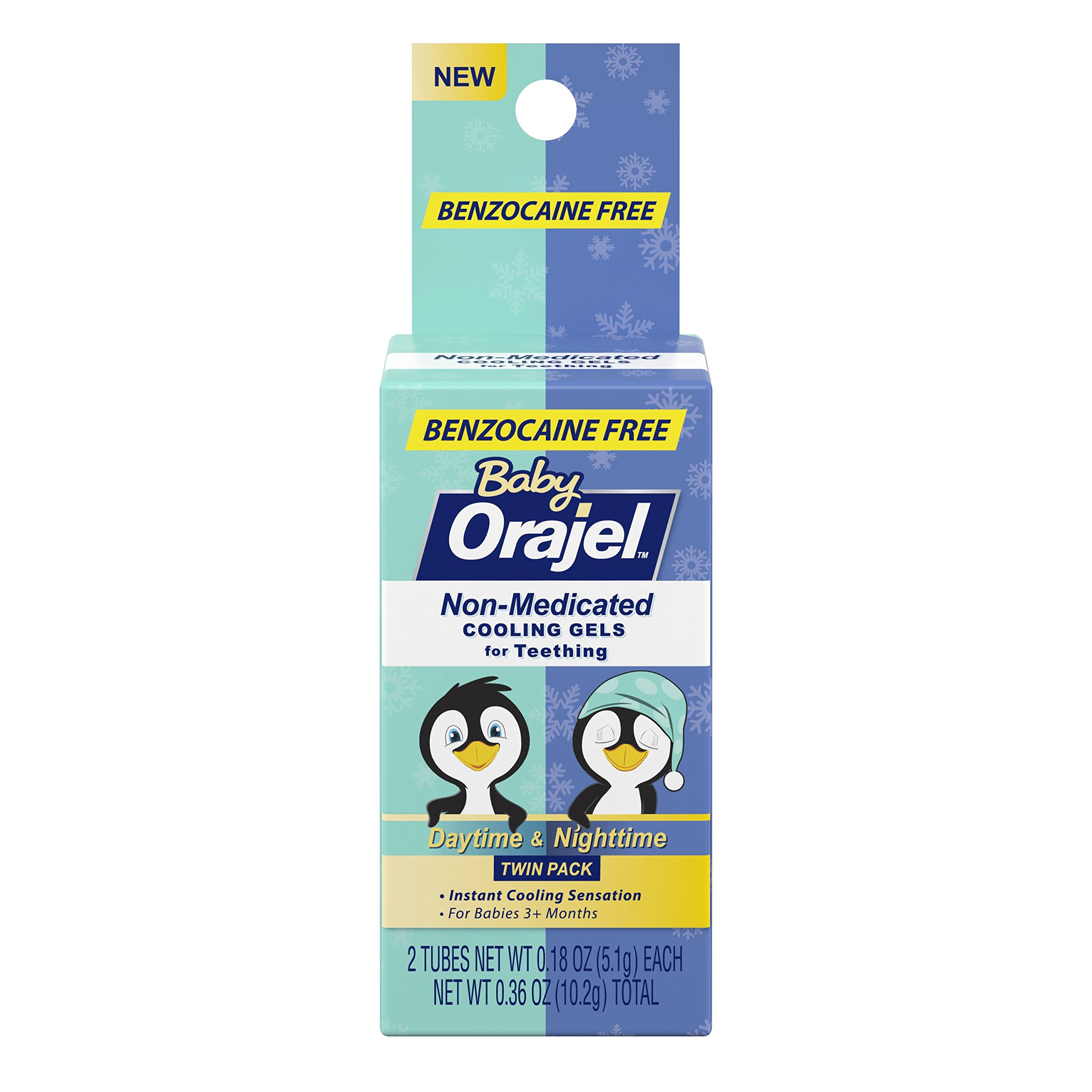Orajel Baby Daytime and Nighttime Non-Medicated Cooling Gels for Teething