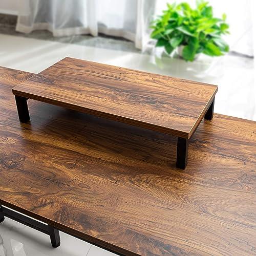 Gelibo L Shaped Corner Desk,59 Inch Rustic Wood Corner Desk