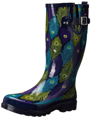 Amazon.com   Western Chief Women's Peacock Bright Rain Boot   Mid-Calf