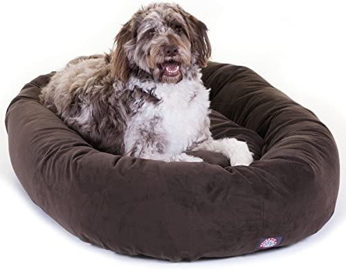 Suede-Dog-Bed-By-Majestic-Pet-Products