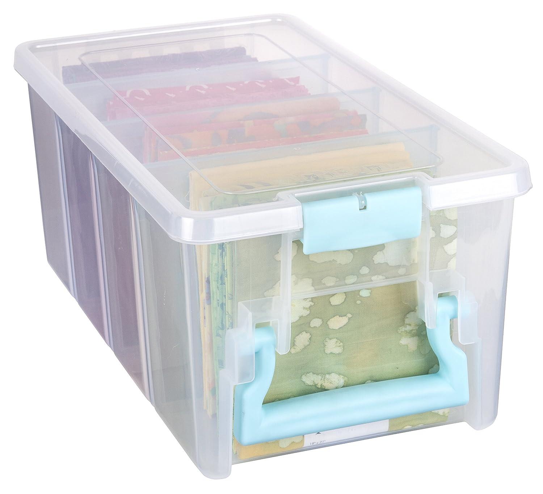 ArtBin Super Semi-Satchel-Clear Art Craft Storage Box 6925AA, Aqua Handle Flambeau Inc.