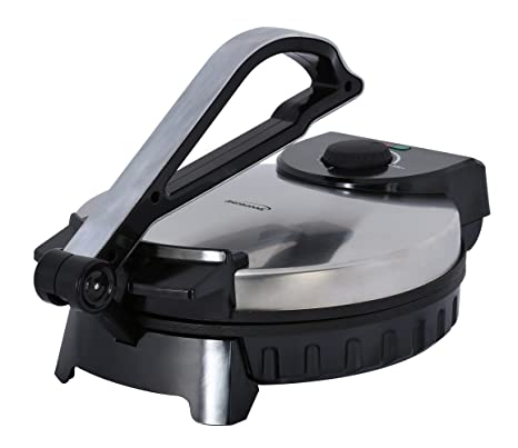 Brentwood TS-128 Electric Tortilla Press, Silver