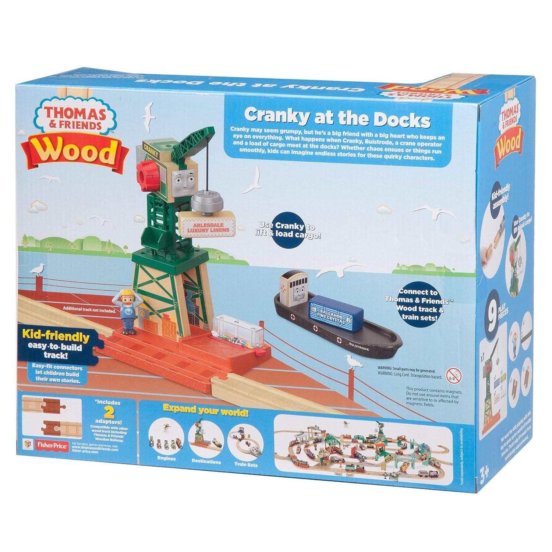 Thomas /& Friends fhm72/Holz Cranky Bei Den Docks Spielset