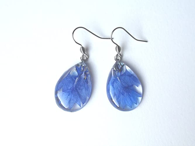 1739e0ed4856a6 Image Unavailable. Image not available for. Color: Handmade Resin Flower  Earrings ...