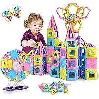 HOMOFY 88pcs Castle Magnetic Blocks - Learning & Development Magnetic Tiles Building Blocks Kids Toys for 3 4 5 6 7…