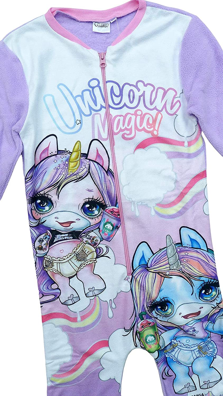 Get Wivvit Girls Poopsie Slime Unicorn Horse Fleece Zipper Sleepsuit Romper Sizes from 3 to 10 Years