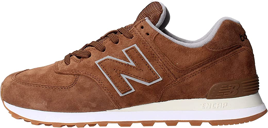 new balance 574 uomo marroni