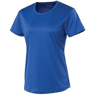 Just Cool- Camiseta de deporte lisa para chica/mujer: Amazon.es: Ropa y accesorios