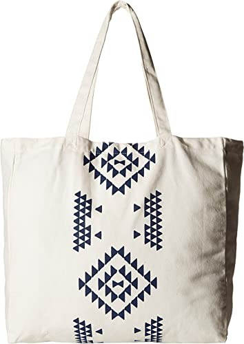 Plush Apparel Soleil Kin Tote (White/Navy) Tote Handbags qnNCX2