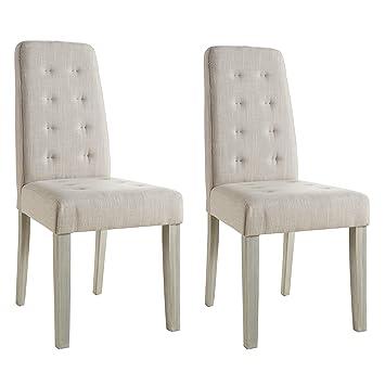Abitti Pack 2 sillas para Comedor o salón tapizadas en Tela Arena y ...