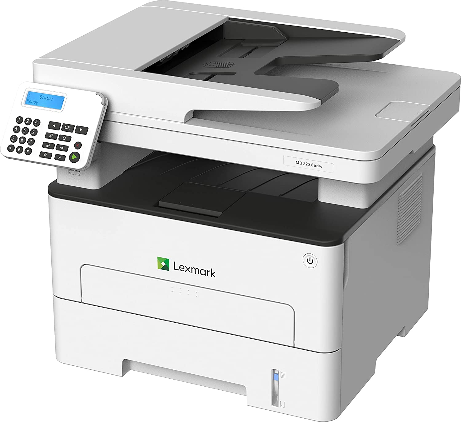 Lexmark MB2236adw Multifunction Laser Printer, Monochrome, Wireless Networking with Duplex Printing (18M0400)