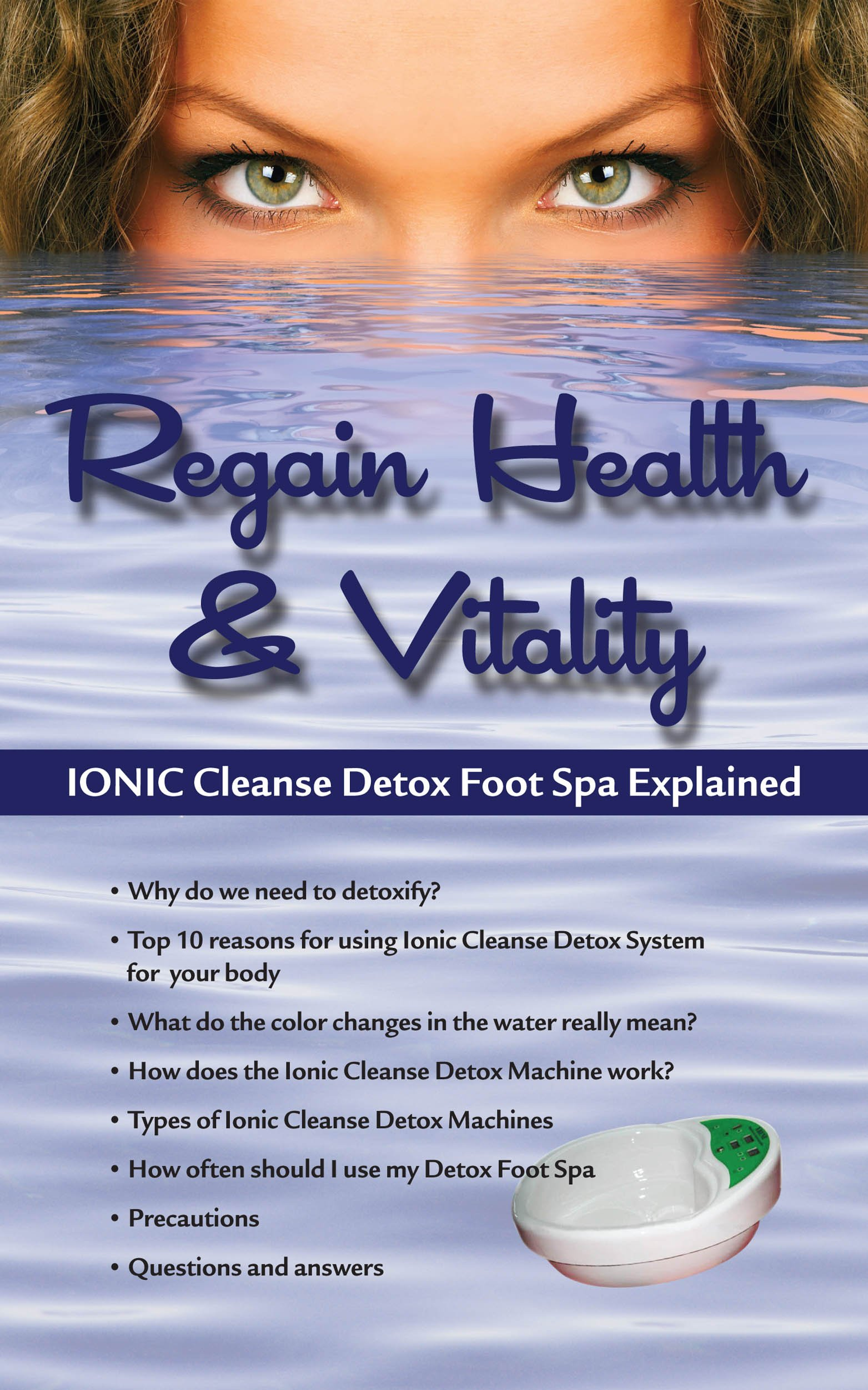 Ionic Cleanse Detox Foot Bath Spa Chi Cleanse Unit for Home Use. NOW WITH SUPER DURY ARRAYS ($60.00 VALUE) by BHC (Image #4)