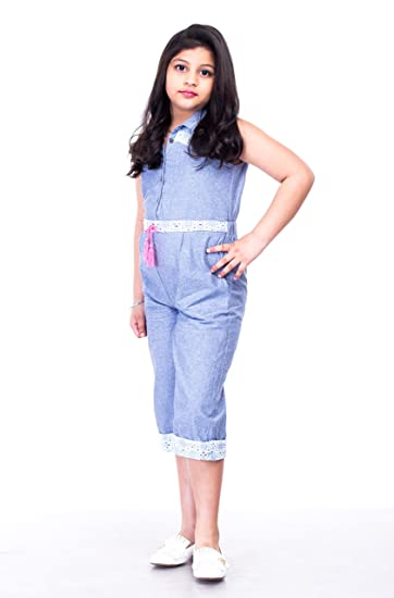 02fb2e808996 Butterfly Chambray Jumpsuit for Kids with Striped Shifly Patch (9-10 Years)