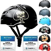 SkullCap® Casco de Skate y BMX Bicicleta Y Scooter Eléctrico Niños 5-13 Años Adultos De 14 A 39 Años