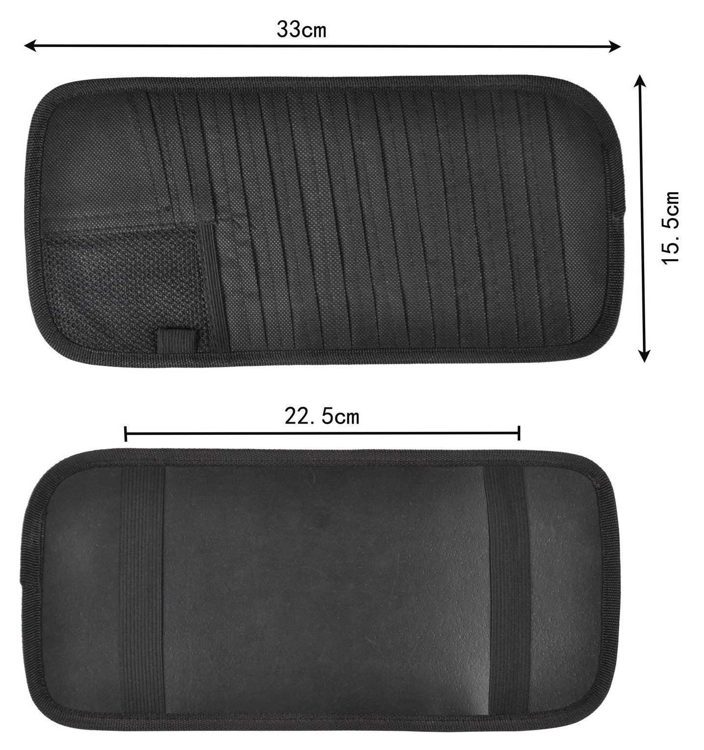 Car Sun Visor CD Clip Storage 12 Pocket Visor Holder (black-2)