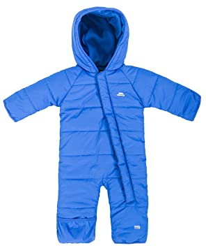 d9fc19522 Trespass Amcotte, Blue, 3/6, Warm Waterproof Snow Suit with Hood Kids