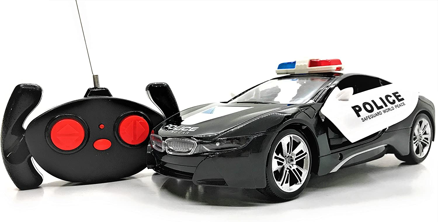 Sounds Flashing Lights RC Concept Police Car 1:16 Scale Full Function Remote Radio Control