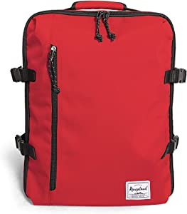 Rangeland Flight Approved Weekender Carry-on Backpack with separate laptop compartment Unisex 21L Lightweight Baggage for Gym Commute Day Trip, Tomato
