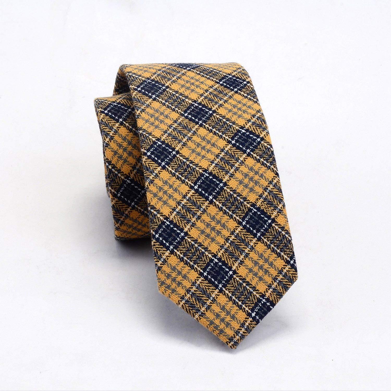 Quality Cotton Slim Tie Fashion 6cm Wool Cashmere Ties Men Wedding Necktie Skinny Plaid Corbatas Party Gravatas