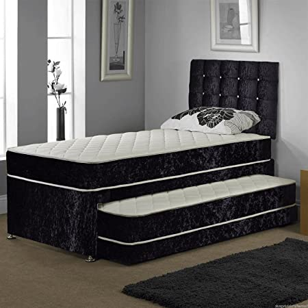 Single Trundle Guest Bed 3 In 1 With Under Bed Pull Out Bed With 2