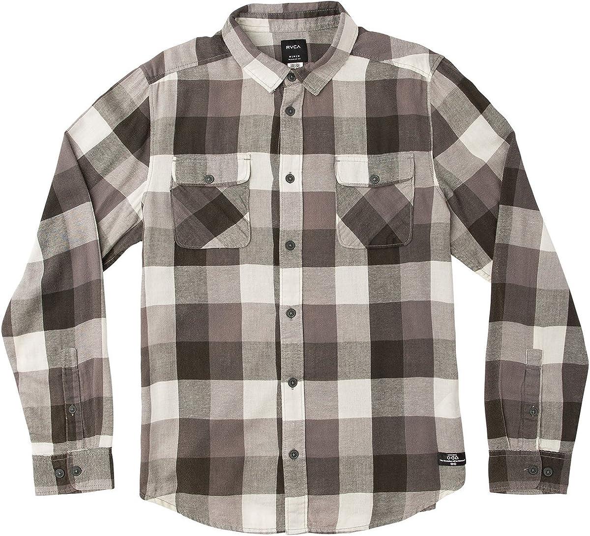 Rvca Men'S Campbell Brothers Buffalo Girl Plaid Shirt