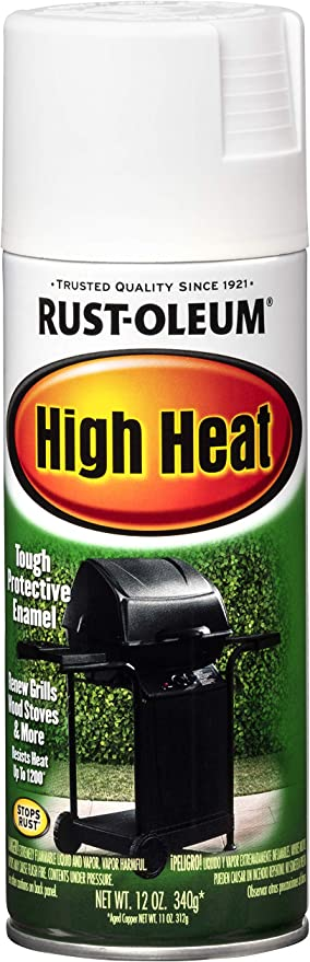 Rust Oleum 7751830 High Heat Enamel Spray Paint 12 Oz White Spray Paints Amazon Com