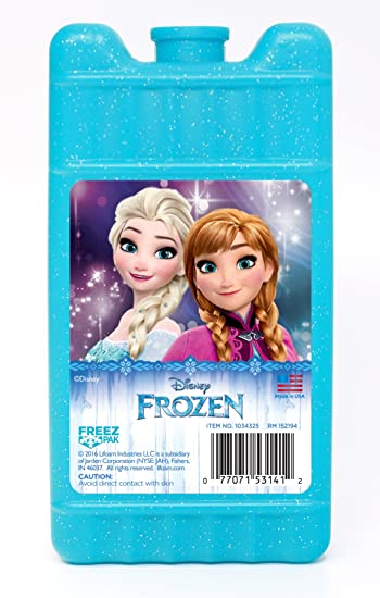 lifoam freez pak disney frozen reusable ice pack mini light blue - Reusable Ice Packs