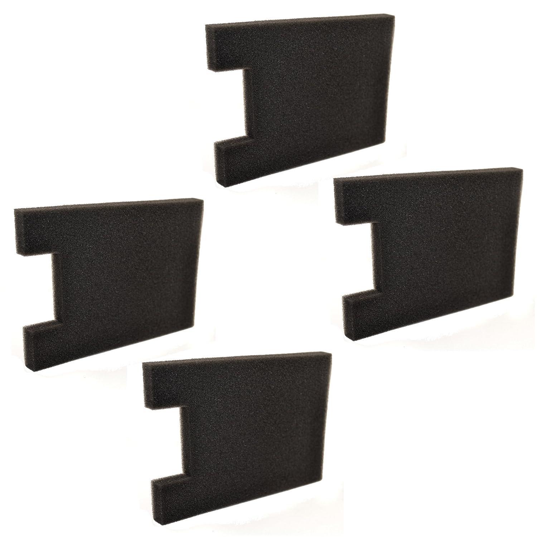 HQRP 4-Pack Foam Filter for Eureka Altima 2950AV, 2961AVZ, 2961BVZ, 2961TUR, 2991AVZ, 2993AV, 2996AVZ, 2996BVZ, 2996DVZ Upright Vacuum Cleaner Coaster