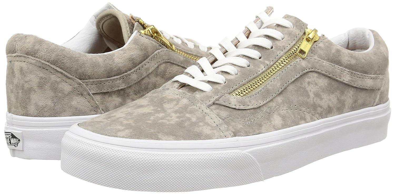 Vans U Unisex-Erwachsene Old Skool Zip Suede, Unisex-Erwachsene U Sneakers Grün (Marble Suede/Khaki/True Weiß) 613e6c