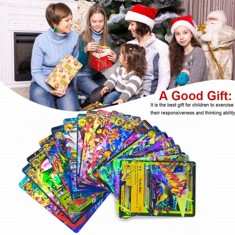 100 Poke Cards TCG Style Card Holo EX Full Art : 20 GX + 20 Mega + 1 Energy + 59 EX Arts with One Guaranteed GX/EX Card by MR.ZZ