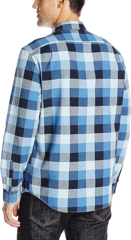 Nautica Mens Buffalo Plaid Oxford Shirt