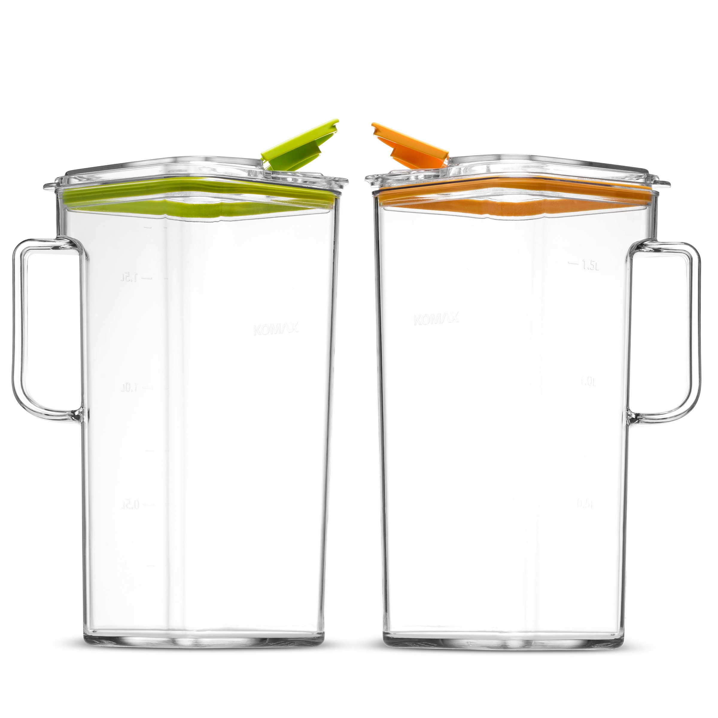 Komax Tritan Clear Large (2 quart) Pitcher With Orange Lid BPA-Free - Great for Iced tea & Water by Komax (Image #5)