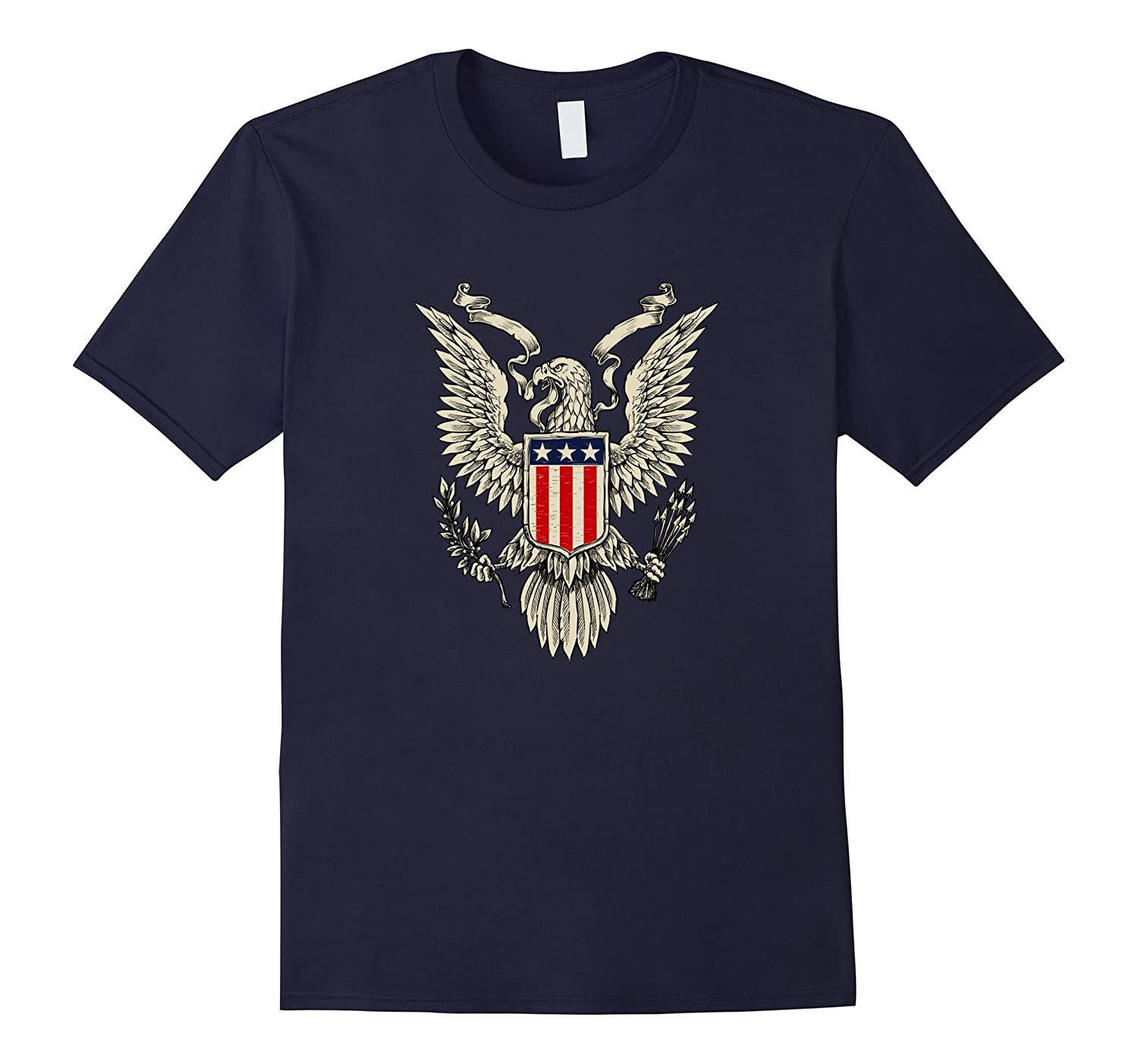 American Patriotic T Shirt With Eagle, For National Holidays-TH