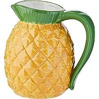 Vaso Tipo Jarra Cerâmica Pineapple Urban Amarelo/Verde 17.5x17.5x13.7 cm Cerâmica